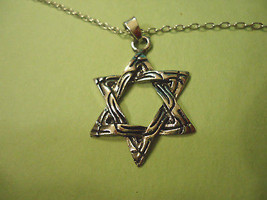 Pointed Interwoven Six Star Necklace >> Combined Shipping  - $4.70