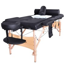 Massage Table Portable Facial SPA Bed W/Sheet+Cradle Cover+2 Bolster+Hanger - $118.46
