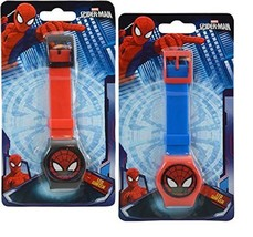 Party Favors Marvel Spiderman Digital Watch on Blister Card 2 Colors Asstd - $10.91
