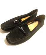 Geox womens loafers suede upper black size 37.5 - $19.80 CAD