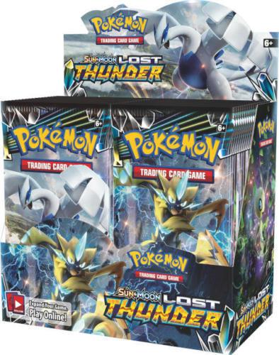 Pokemon TCG Sun & Moon Lost Thunder + XY Fates Collide Booster Box Bundle