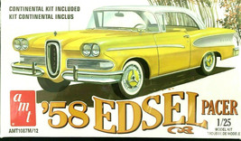 AMT 1958 Edsel Pacer 60Th Anniversary Plastic Model Car Kit 1/25 Scale S... - $29.07