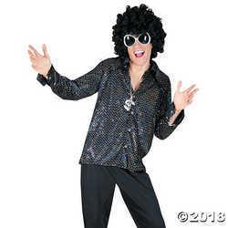 Funny Fashions Mens Retro Boogie Night Shirt Theme Party Fancy Costume, Medium (