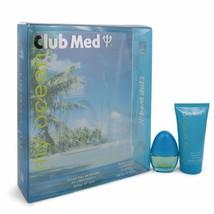 Club Med My Ocean Gift Set - .33 Oz Mini Edt Spray + 1.85 Oz Body Lotion -- F... - $17.46