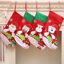Large Christmas Stocking Gift Bag Socks Sequins Christmas Festival Decor... - $9.99