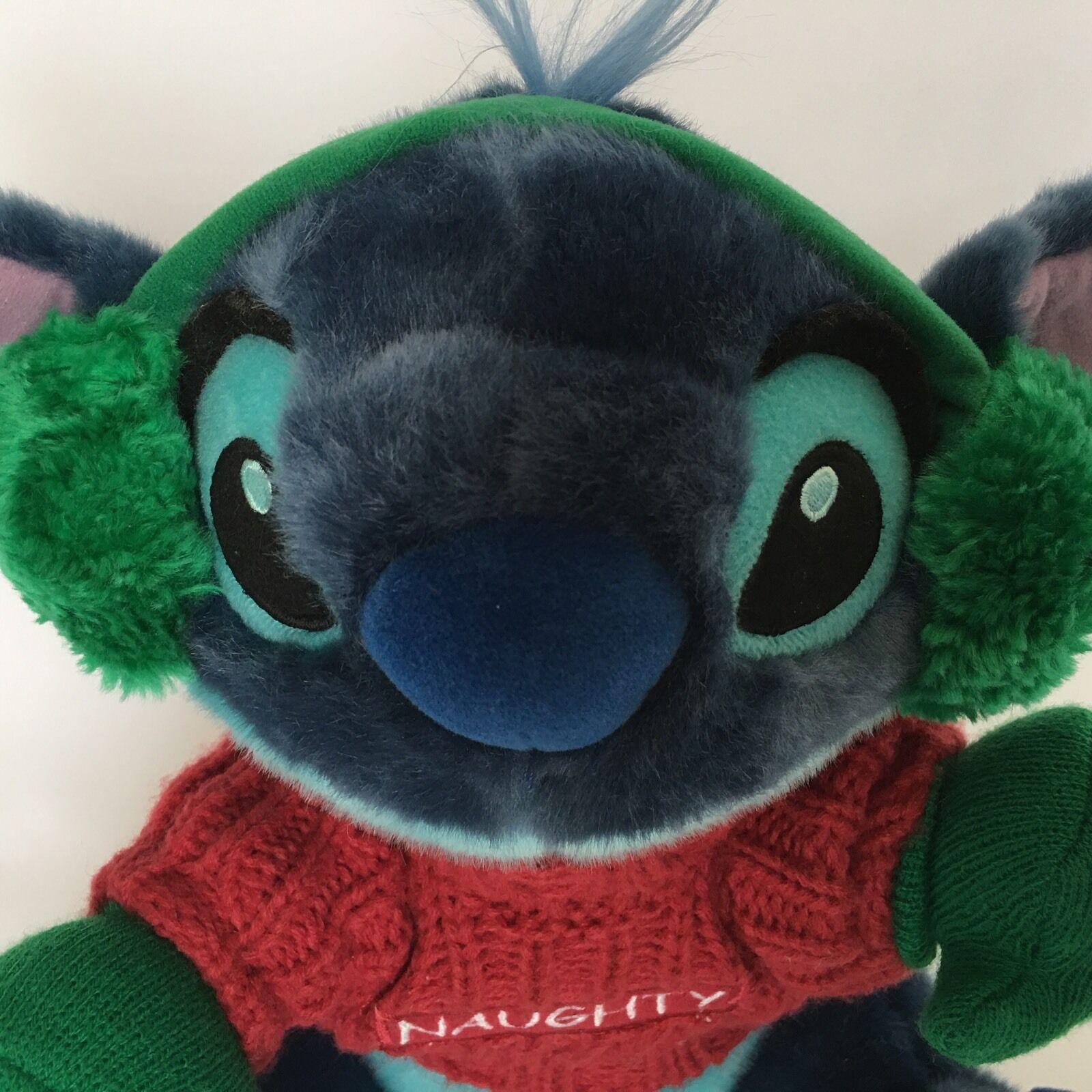 Disney Stitch From Lilo and Stitch Plush Blue Naughty Christmas Stuffed Animal image 3