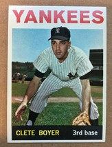 1964 Topps #69 Clete Boyer Baseball Card NM Condition New York Yankees - $12.99