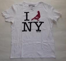 Aeropostale A87 I Dove New York White T-Shirt Size Large Short Sleeve Gr... - $8.33