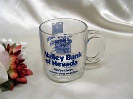 3906 Vintage Valley Bank of Nevada Glass Coffee Mug - $6.50