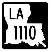 Louisiana State Highway 1110 Sticker Decal R6357 Highway Route Sign - $1.45+