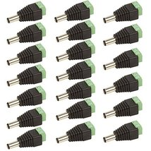 CCTV 2.1mm x 5.5mm Male Power Plug Adapter 20 Pack - $8.99
