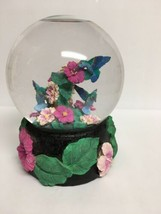 Vintage Hummingbird Musical Snow Globe San Francisco Music Box Company - $36.45