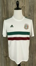 Adidas Mexico World Cup Away Soccer Jersey Shirt Large Climalite White Poly - $54.45