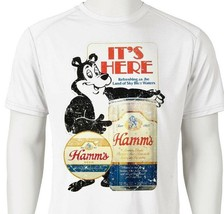 Hamm's Beer Dri Fit graphic Tshirt moisture wicking retro SPF active wear tee image 2