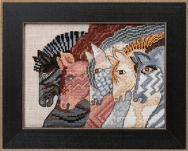 Moroccan Mare 2017 Horse Collection AIDA cross stitch kit Laurel Burch Mill Hill - $16.20