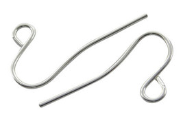 100 Silver Ear Wires French Hook Earring Wires Findings BULK - $3.23