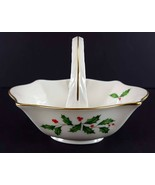 "LENOX China Holiday Dimension Small Basket 4-1/2"" Across Dinnerware - $19.79"