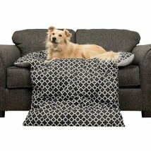 Reversible Geometric Printed Bolster Dog Bed Furniture Cover For Dogs an... - $24.99