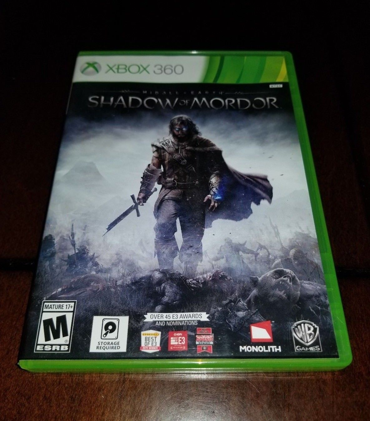 Middle Earth Shadow of Mordor Xbox 360 EXMT **Inv01575**
