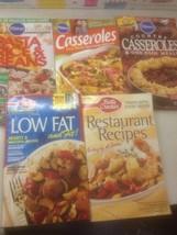 Lot Of 5 Cookbooks Pillsbury Betty Crocker Low Fat Casseroles Pasta Rice - $29.99
