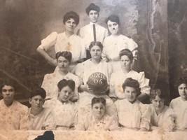 "1906 ""DIXIE"" Woman's Girls Basketball Team Photo w/Ball 8x10 B&W Original - $14.00"