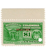 (I.B) Colombia Revenue : State Duty $1 (ABN specimen) - $7.64 CAD