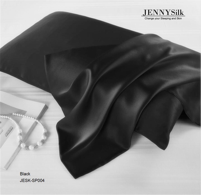 100% Mulberry Silk Pillowcase 16mm Black Silk Pillowcase