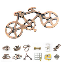 Classic-IQ Metal Puzzle Game Retro Vintage Lock Key Brain Teaser Toy For... - $8.60