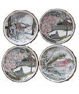 Four-Johnson-Brothers-Friendly-Village-Coasters-Butter-Pats - $38.33