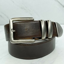 Ritz Brown Vintage Wide Genuine Leather Belt Size Small S 26 - $24.18