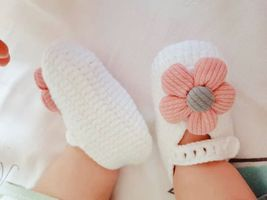 Newborn wool shoes hundred days female baby princess shoes hand-woven ba... - $23.00
