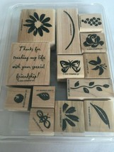 Stampin Up Watercolor Garden Stamp Set Bee Grapes Friendship Crafting Gardener - $11.70