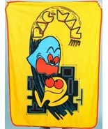 "Pac-Man Video game fleece throw Blanket Yellow 42"" x 60 NEW Loot Crate P... - $19.79"