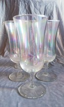 Set of 5 Vintage Rainbow Tinted Parfait Glasses, Excellent Condition - $28.05