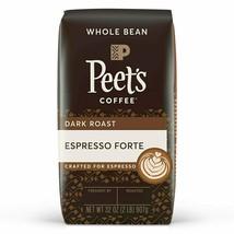 Peet's Coffee Espresso Forte, Dark Espresso Roast Whole Bean Coffee, 32 Ounce - $29.60