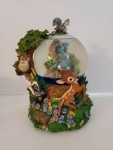 Vintage Disney Bambi Large Musical Snow Globe (Plays Little April Shower... - $99.99