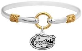 An item in the Sports Mem, Cards & Fan Shop category: Florida Gators Two Tone Silver Gold Cuff Bangle Bracelet Charm Jewelry UF