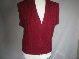 Pendleton Ruby Cable Knit Wool Vest. Size Medium - $16.99