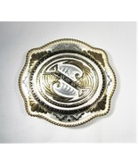 Montana Silversmiths Vintage Silver Plated Belt Buckle Large C2714 - $120.84