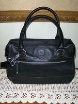Tignanello Black Satchel Shoulder Bag Handbag Tote Shopper Purse Pebble ... - $27.99
