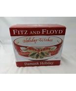 Fitz & Floyd Damask Holiday Sentiment Bowl - $8.96