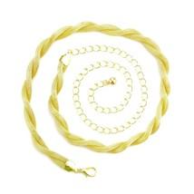 Gold Plaited Snake Ladies Womens Thin Waist Chain Charm Belt Buckle Fash... - $11.95
