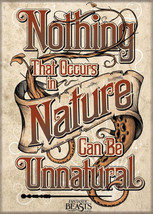 Fantastic Beasts Movie Nothing Can Be Unnatural Refrigerator Magnet Harr... - $3.99