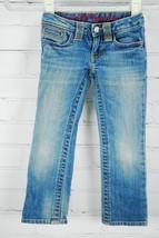 Gap Kids Girl's Jeans Size 4 Regular - 99% Cotton Embroidered Back Pockets Pink image 2