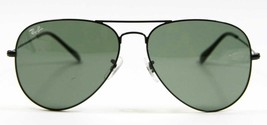 Ray Ban 3026 L2821 Aviator Black Large Sunglasses G-15 Lens 62mm New Authentic - $84.60