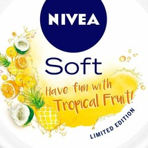 NIVEA Soft Light Moisturizer Cream Tropical Fruit With Vitamin E & Jojoba Oil image 2