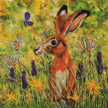 Holmsey Hare cross stitch chart Paine Free Crafts  - $18.00