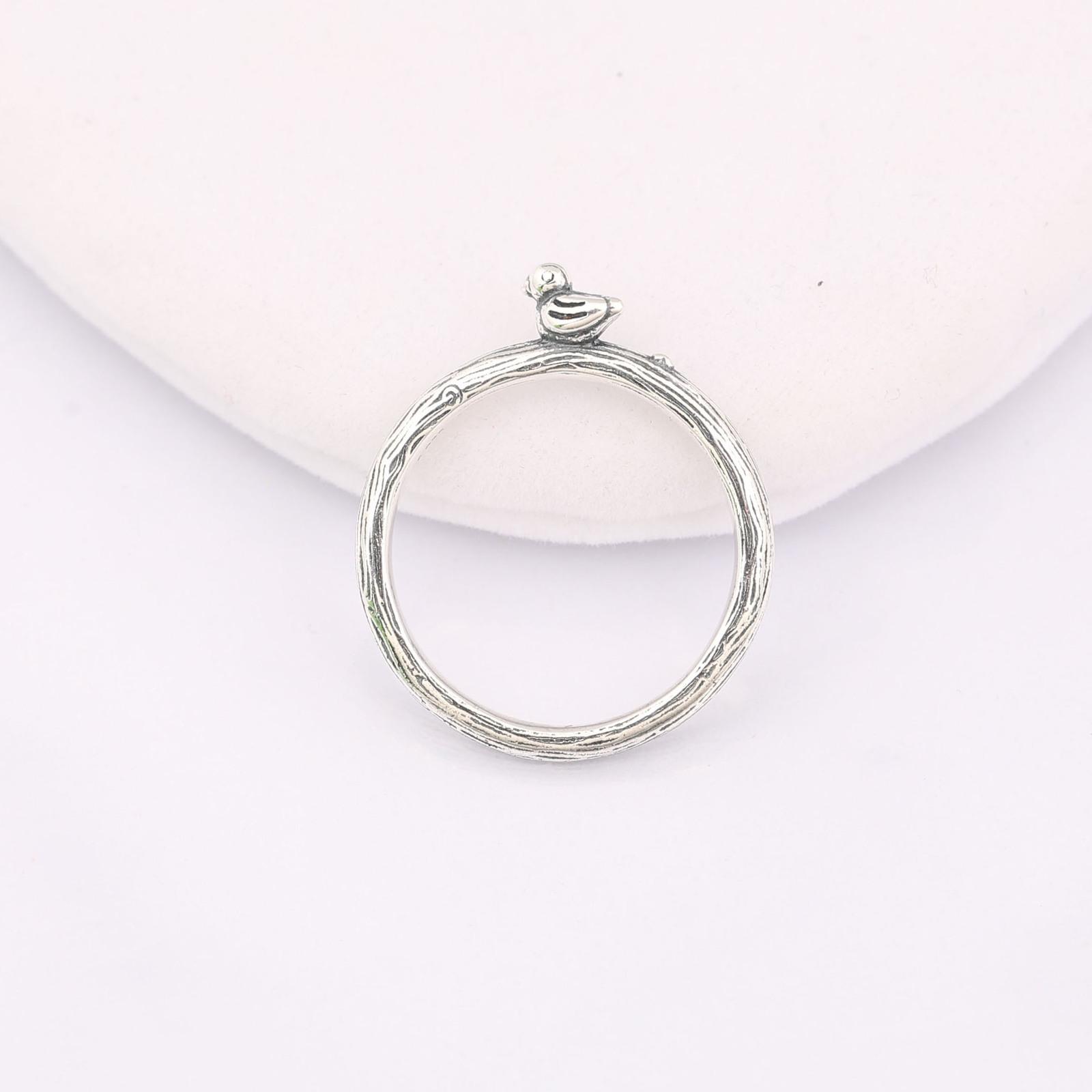 Spring 925 Sterling Silver Spring Bird Ring Women Pandora Inspired