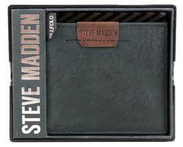 NEW STEVE MADDEN MEN'S PREMIUM LEATHER CREDIT CARD ID WALLET BLACK N80007/08 image 7