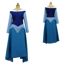 Disney Sleeping Beauty Aurora Princess Blue Dress Cosplay Costume - $148.38